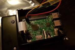 RasperryPi inkopplad till touchscreen