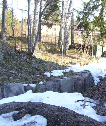 Mycket snö kvar i april