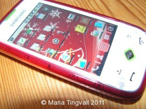 Julfint med rött skal och ny bakgrundsbild