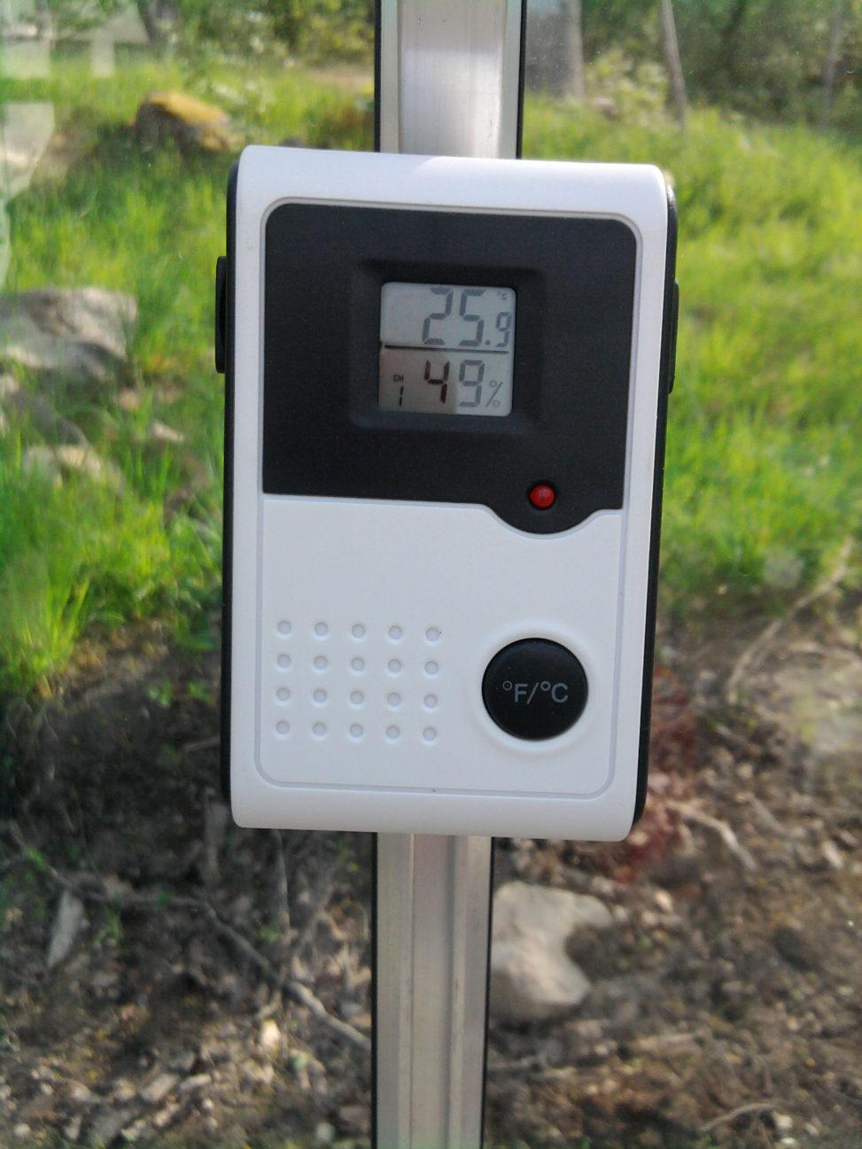 Växthustermometer