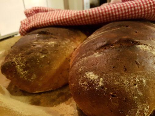 Bröd bakat på drav och vört