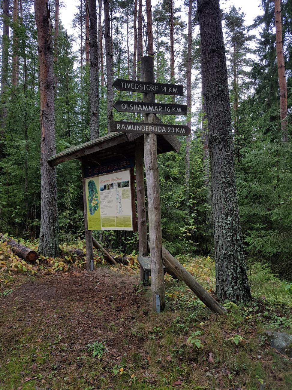 Etapp 15 och 16 av bergslagsleden vid Gråmon i Tiveden