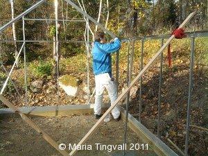Jonas bygger växthus